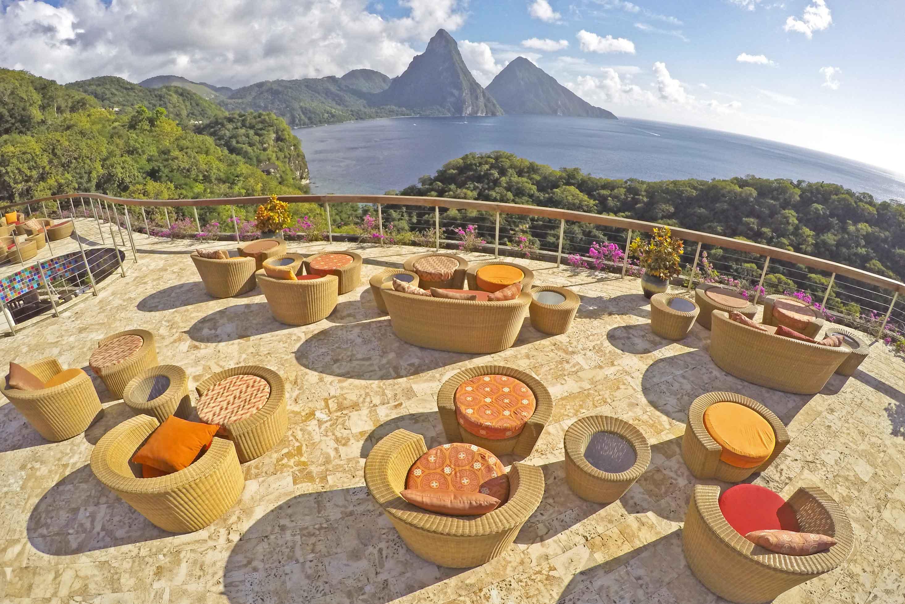 Celestial Terrace do hotel Jade Mountain | foto: Lala Rebelo