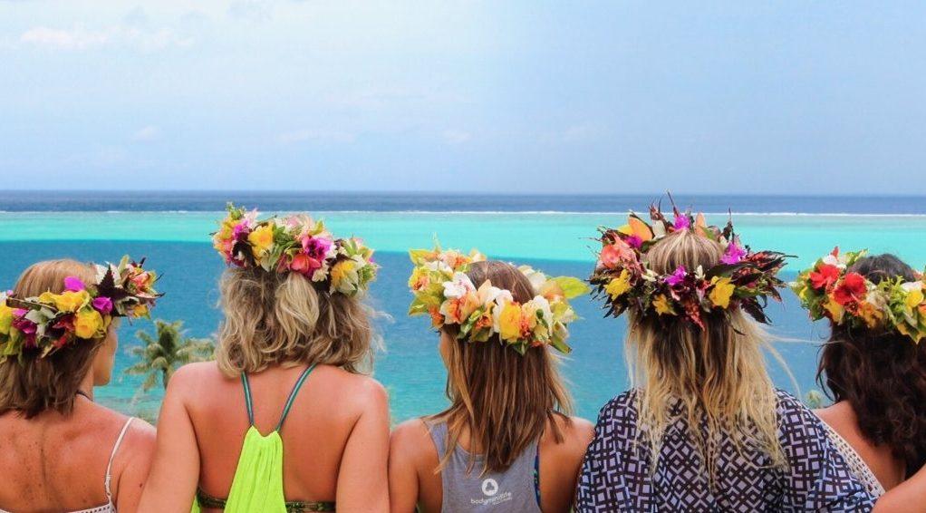 E quando bate o sol... Olha a cor que fica o mar!!! Ilha de Huahine, Polinésia Francesa
