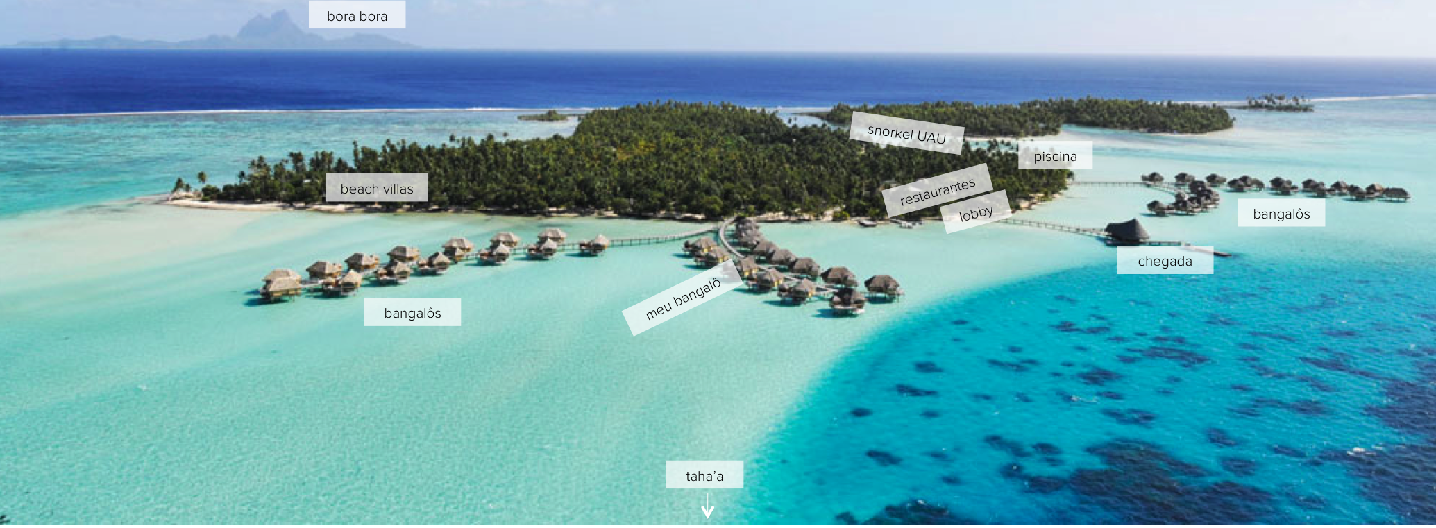 le tahaa island resort map location