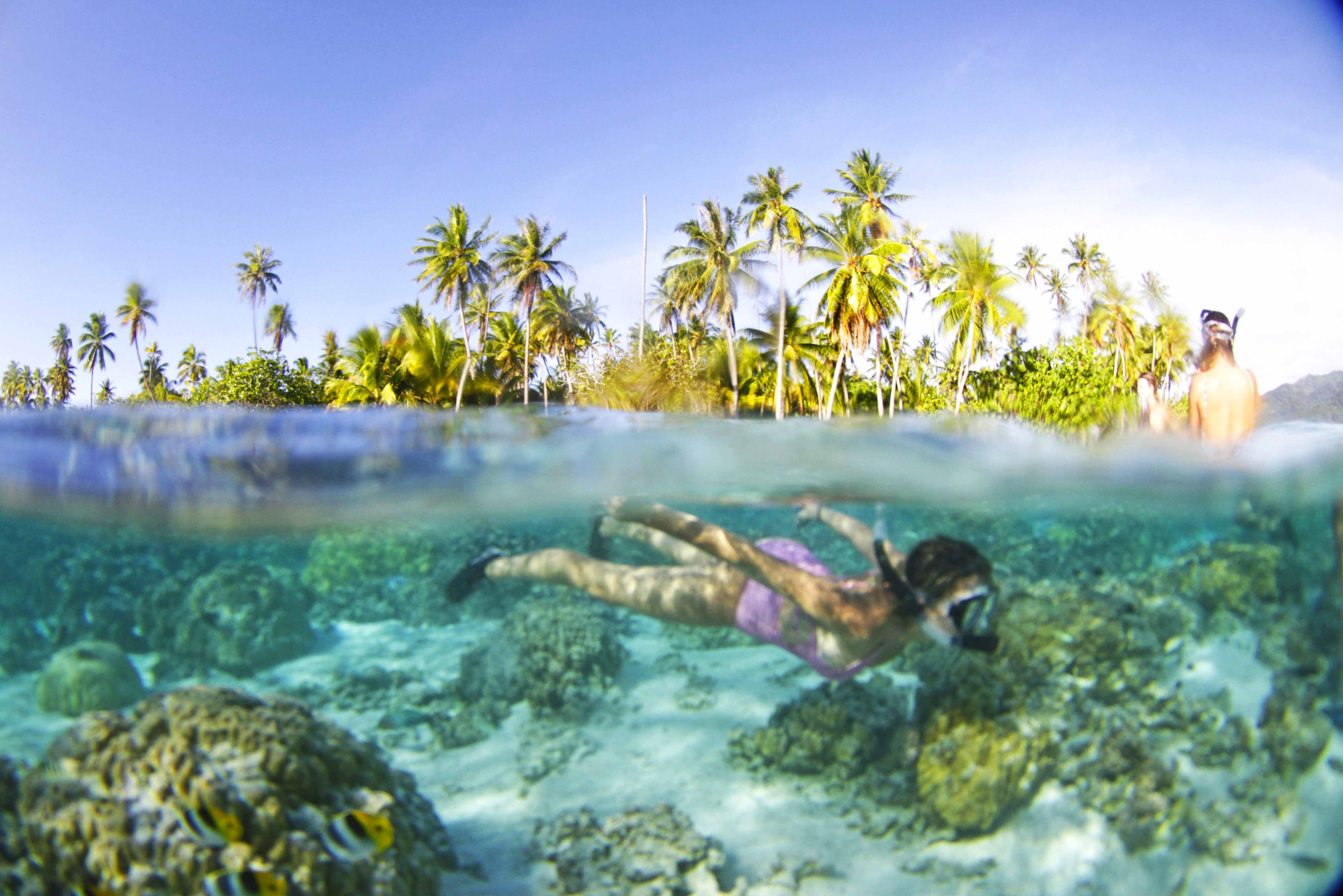 Snorkel em Le Taha'a Island Resort | foto: JujuNaTrip.com