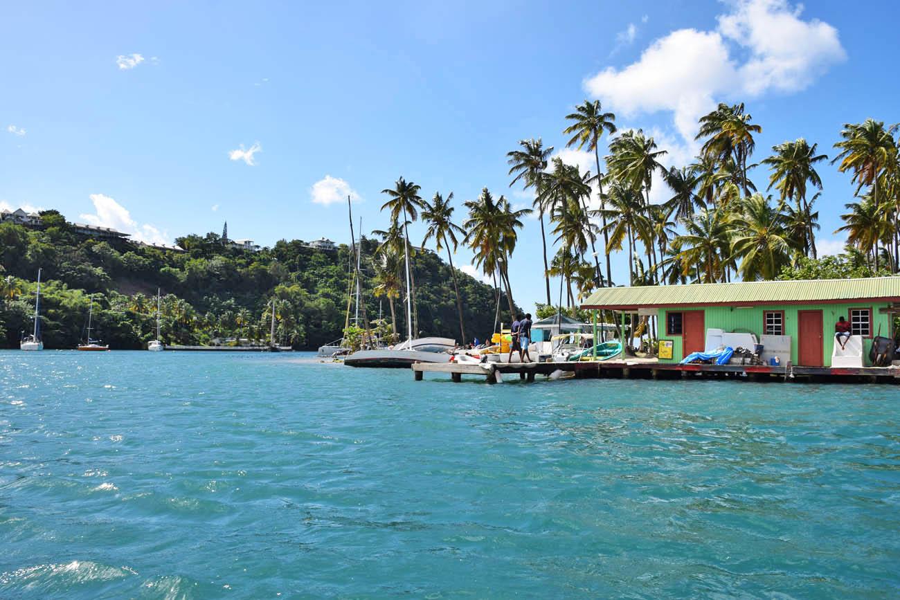 Marigot Bay, em St. Lucia | foto: Lala Rebelo