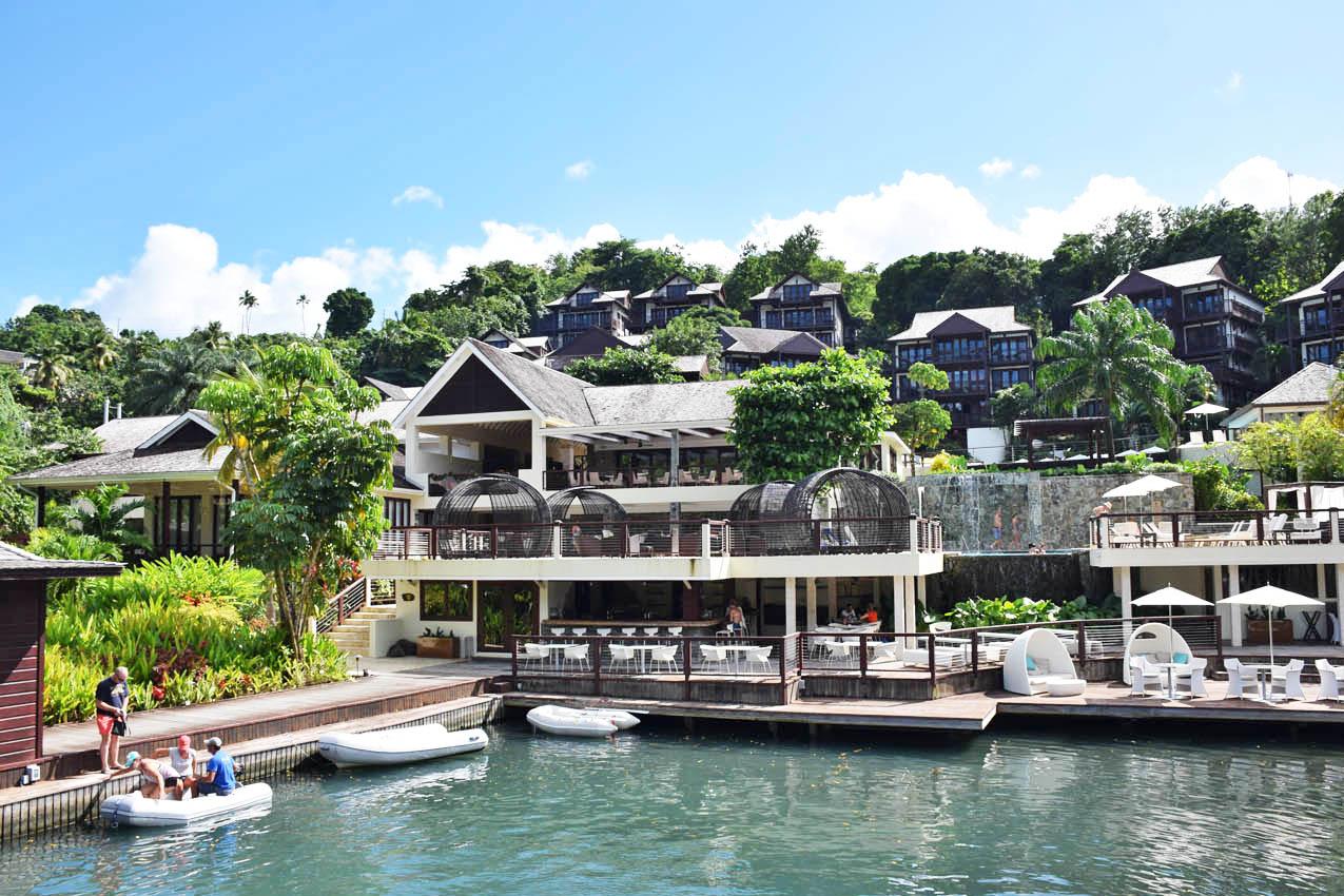 Hotel Capella, em Marigot Bay, St. Lucia | foto: Lala Rebelo