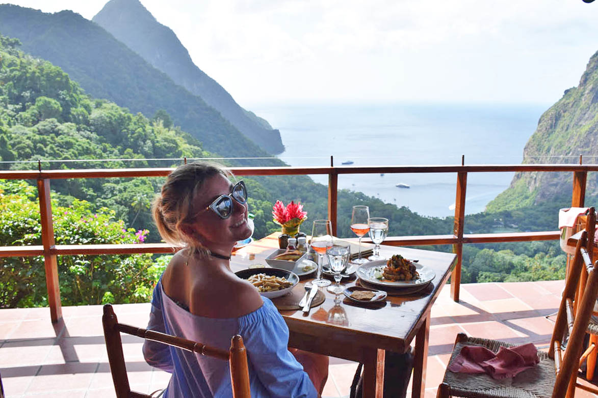 Restaurante Dasheene - hotel Ladera, em St Lucia | foto: Lala Rebelo