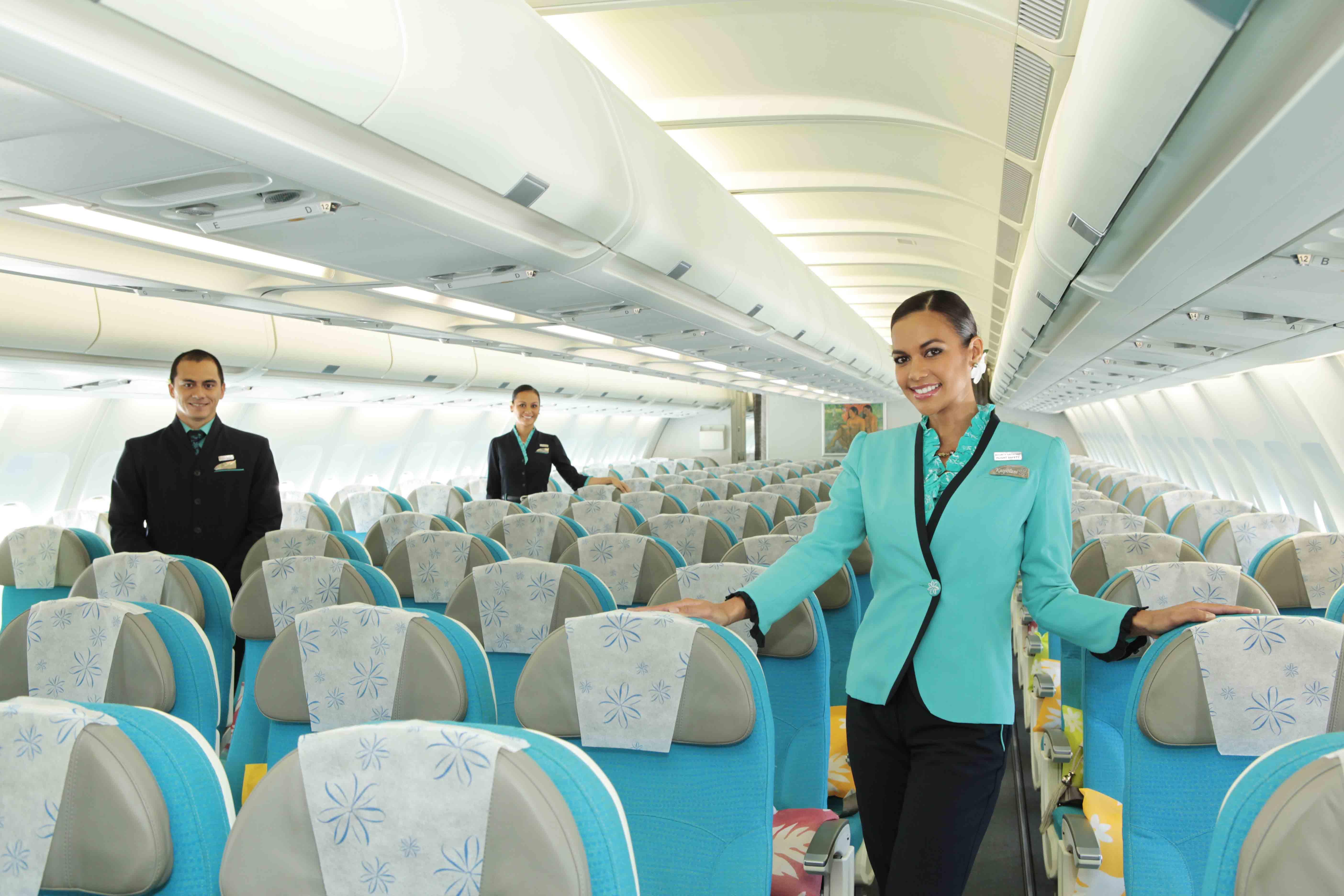 Classe econômica da Air Tahiti Nui | foto: divulgação