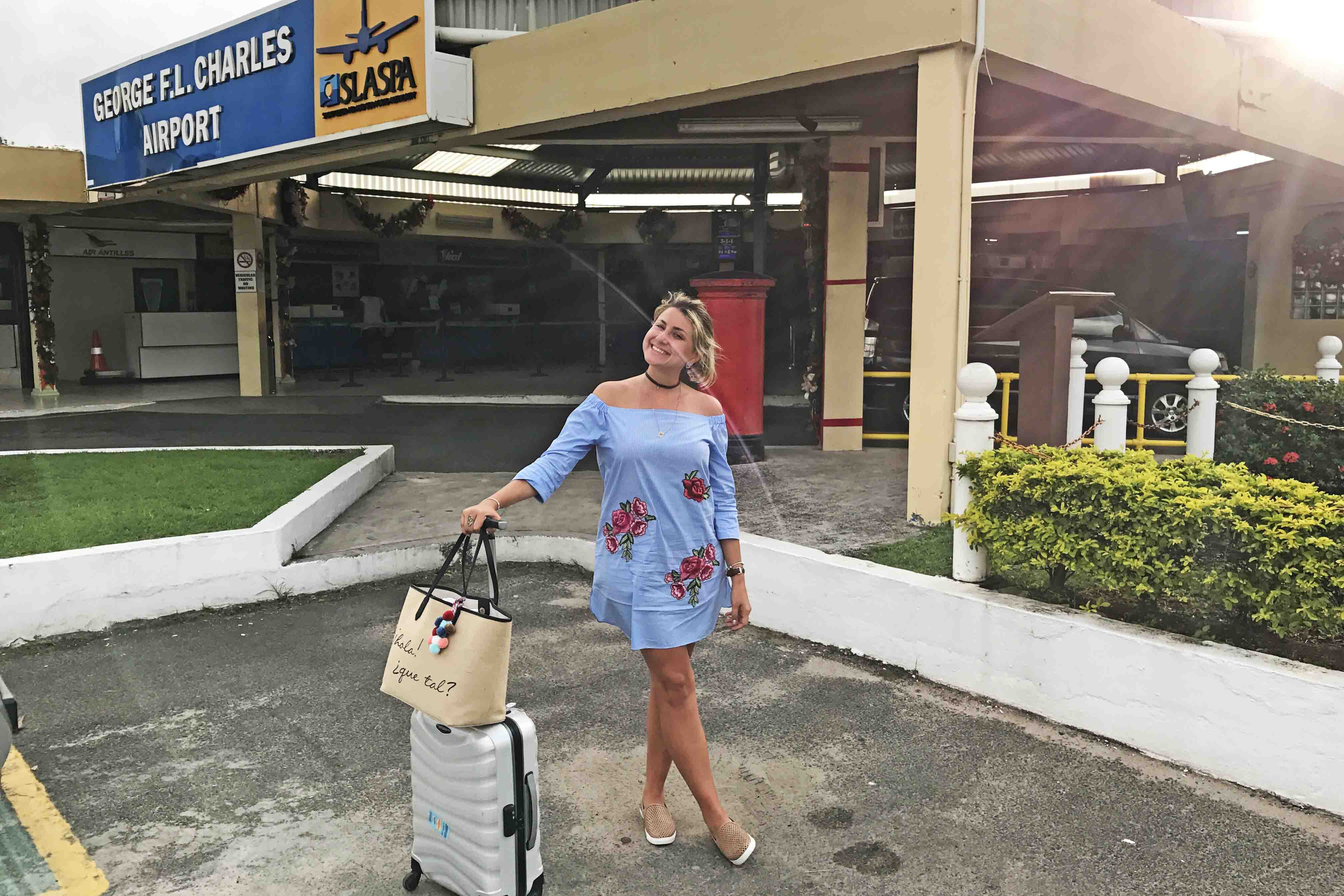 Aeroporto SLU em Saint Lucia - o menorzinho | foto: Lala Rebelo