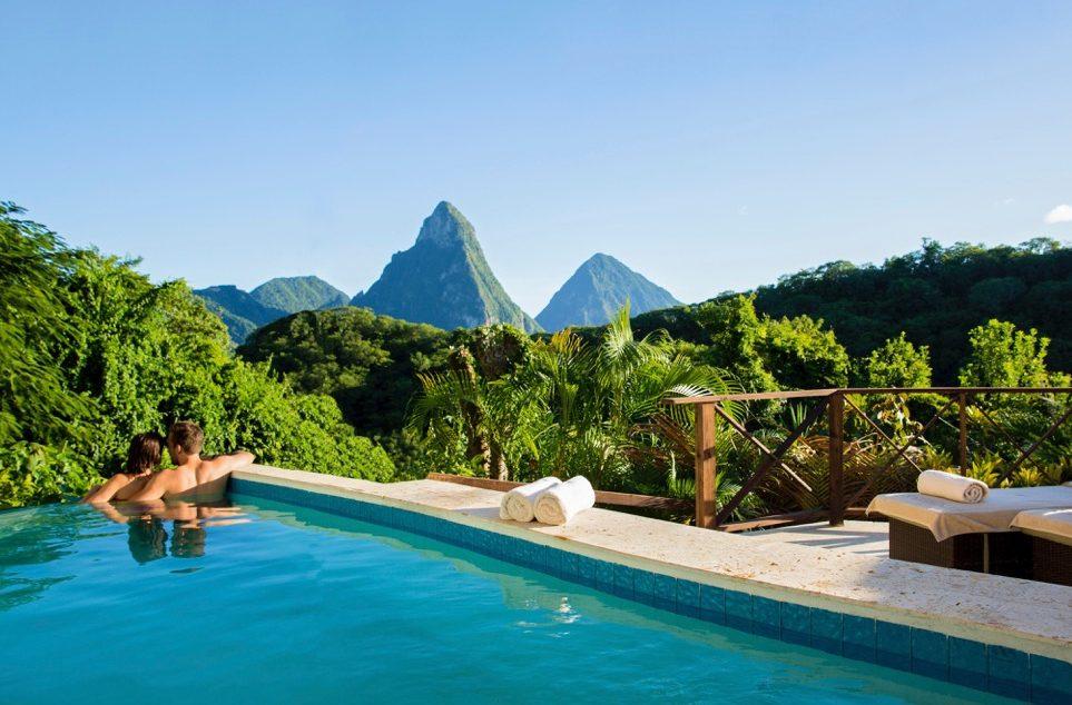 Piton Pool Suite Casuarina no Anse Chastanet Resort, em St Lucia | foto: divulgação
