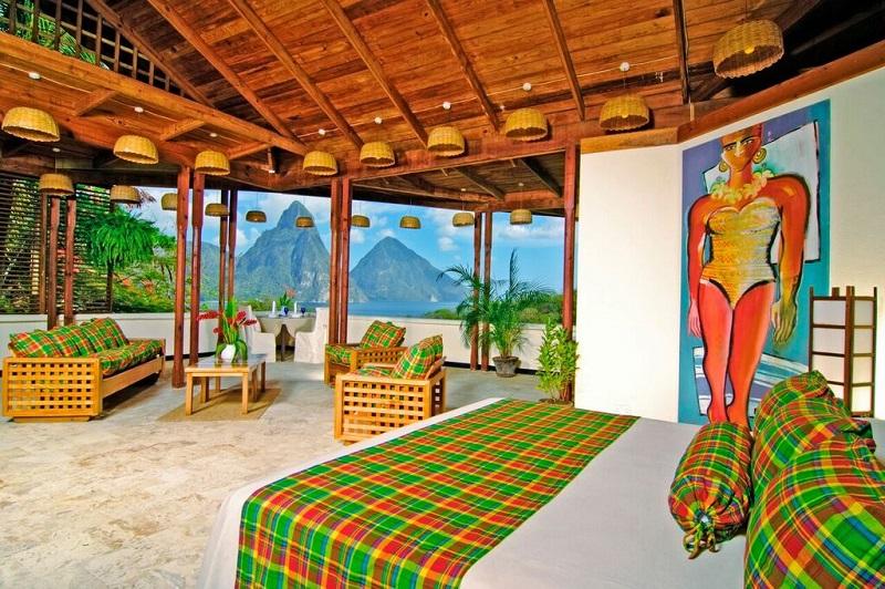 Quarto Premium Hillside do Anse Chastanet Resort em St Lucia | foto: divulgação