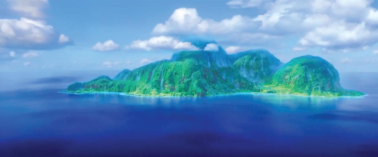 Cena do filme Moana - a ilha da deusa Te Fiti | imagem: fragmento do filme