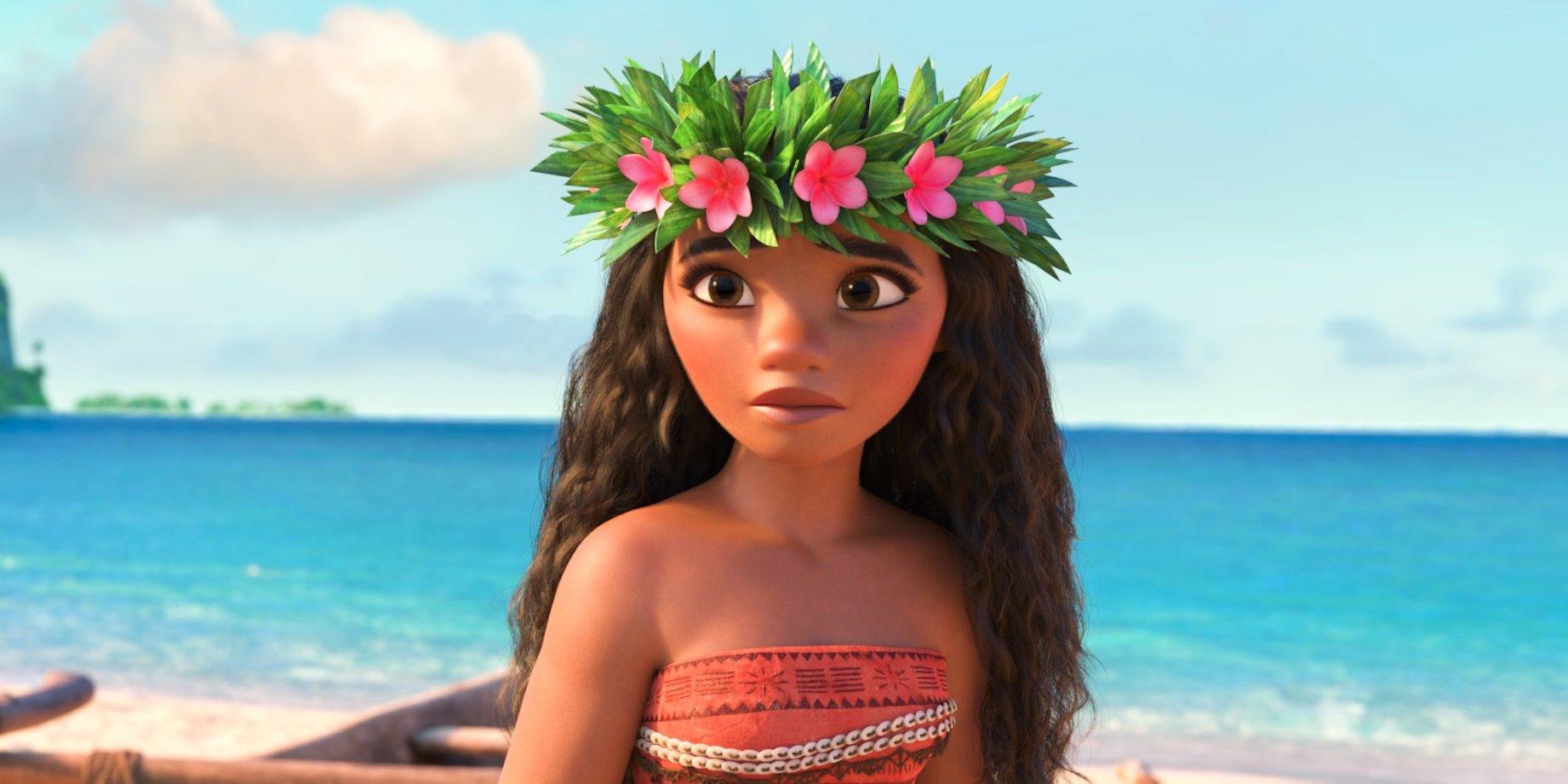 Cena do filme - Moana e sua coroa de flores | imagem: divulgação