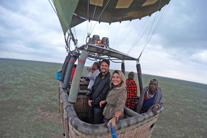 passeio de balão Serengeti