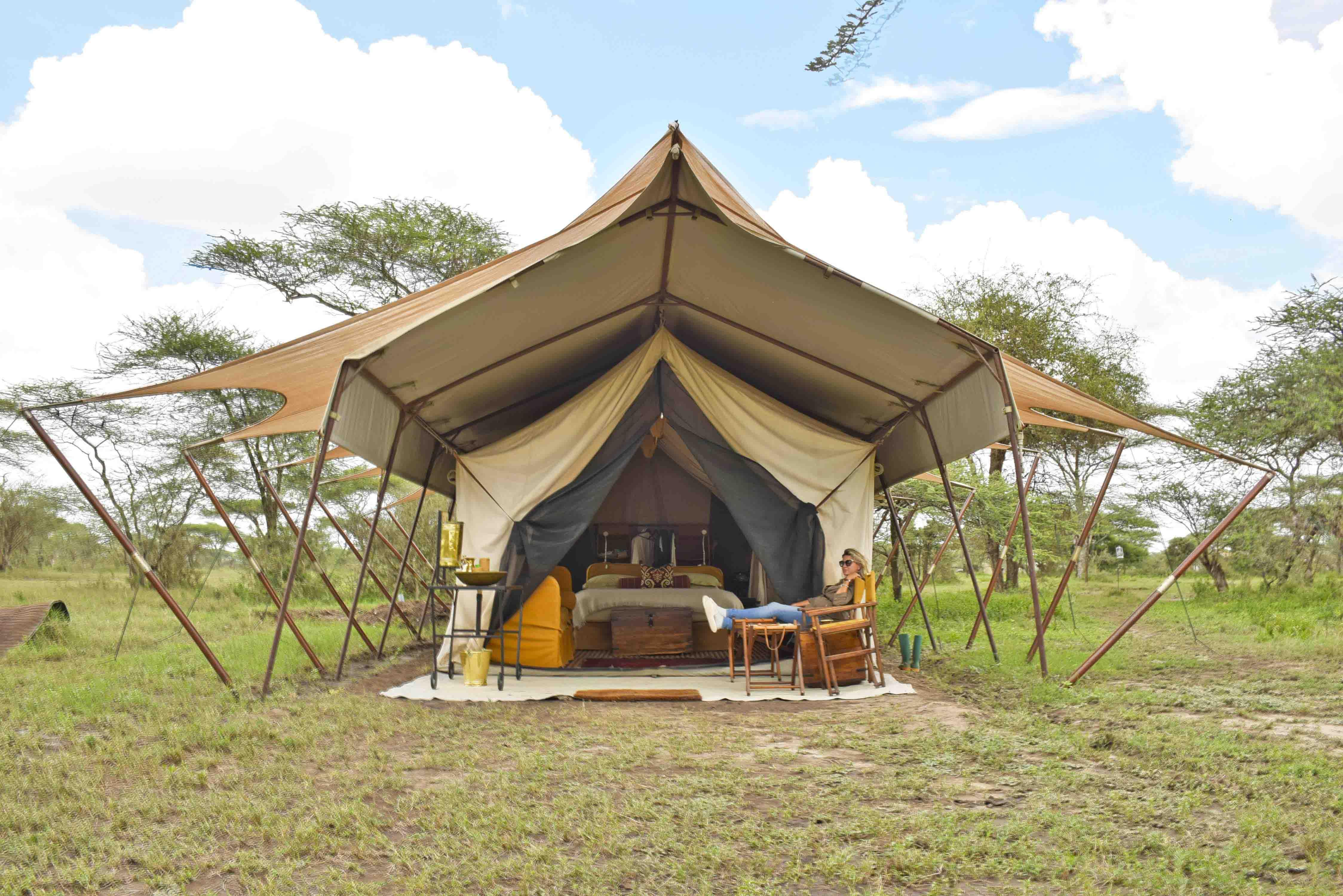andBeyond Serengeti Under Canvas - acampamento de luxo - safari glamping
