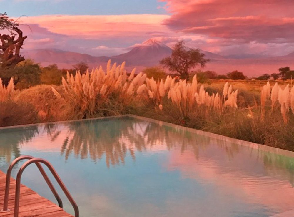 hotel tierra atacama chile sunset pool