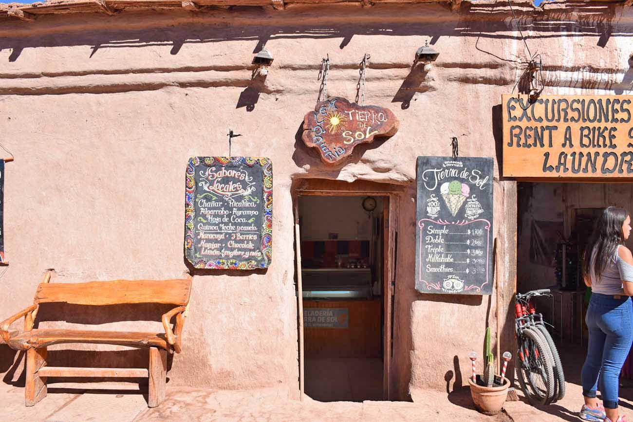 Sorveteria Tierra del Sol - San Pedro de Atacama foto Lala Rebelo