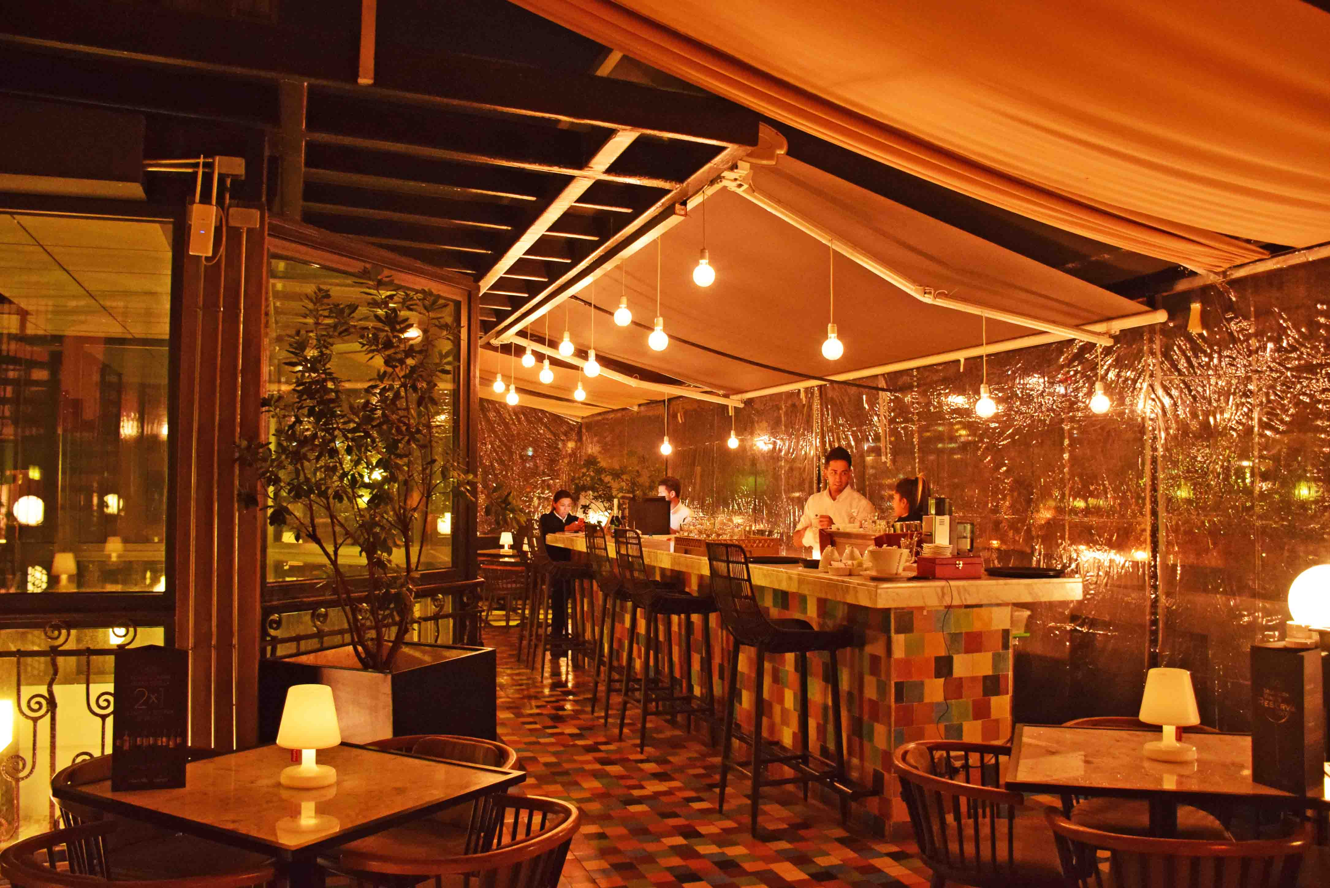 restaurantes bares em santiago chile - terraza k - lastarria