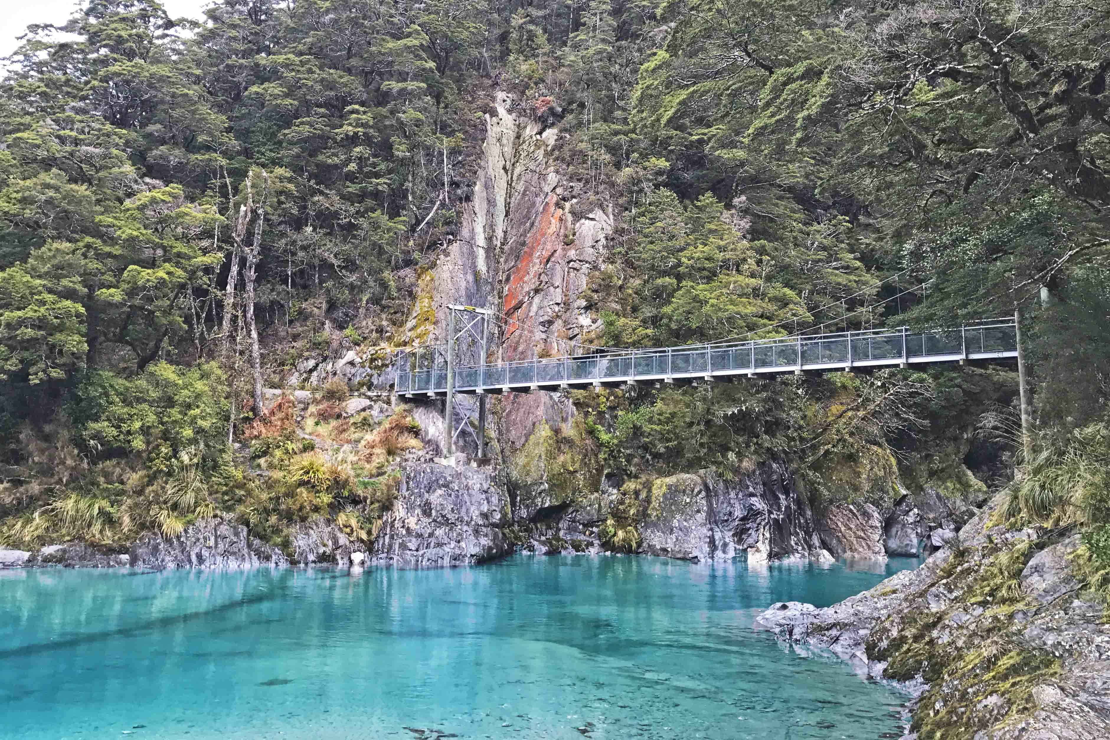 blue pools walk wanaka new zealand