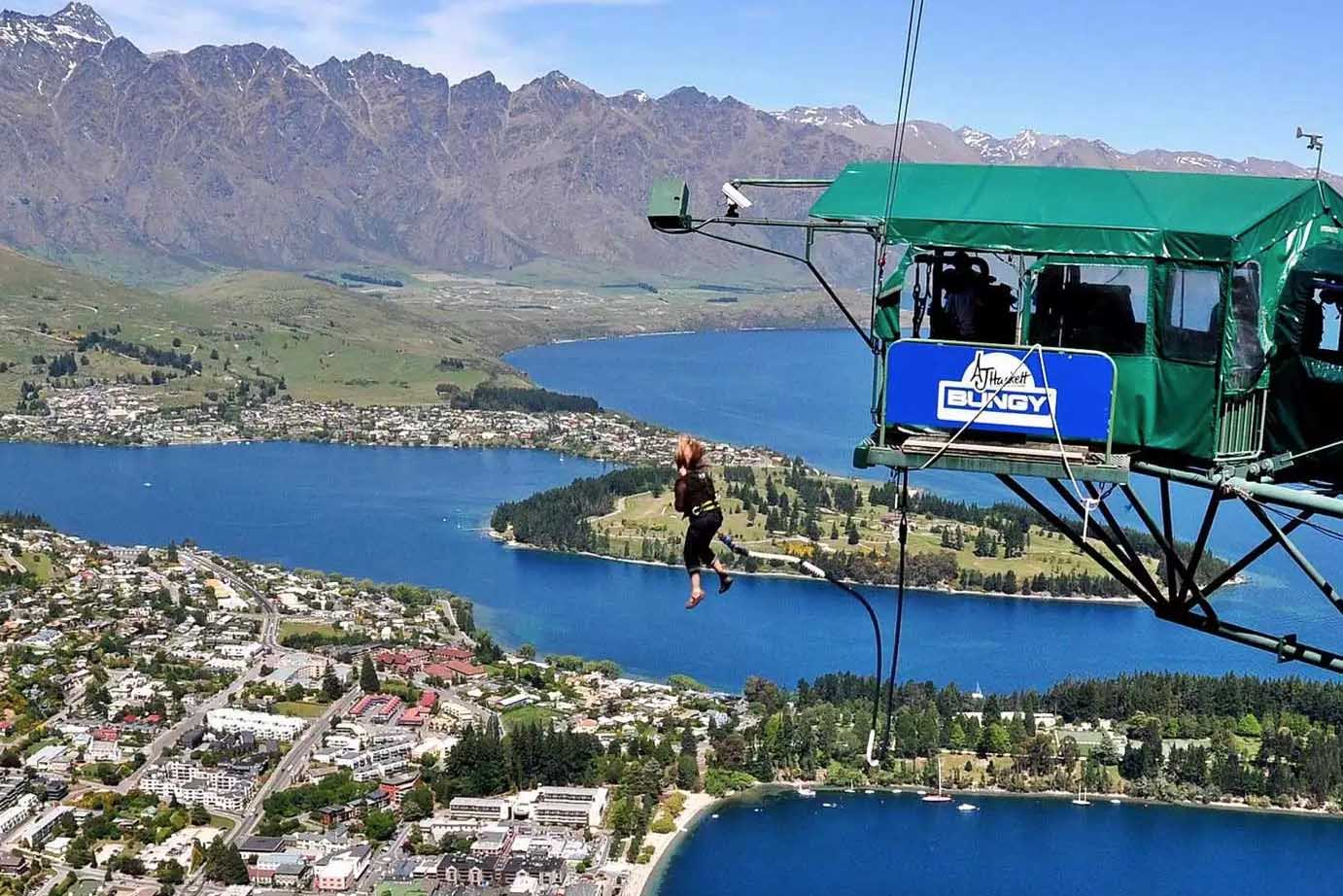 Ledge Bungy Jump queenstown new zealand
