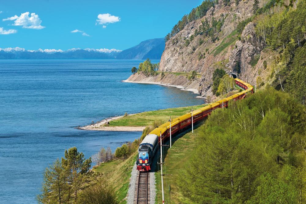 Viagem de volta ao mundo de trem - Trem Transiberiano - Lago Baikal