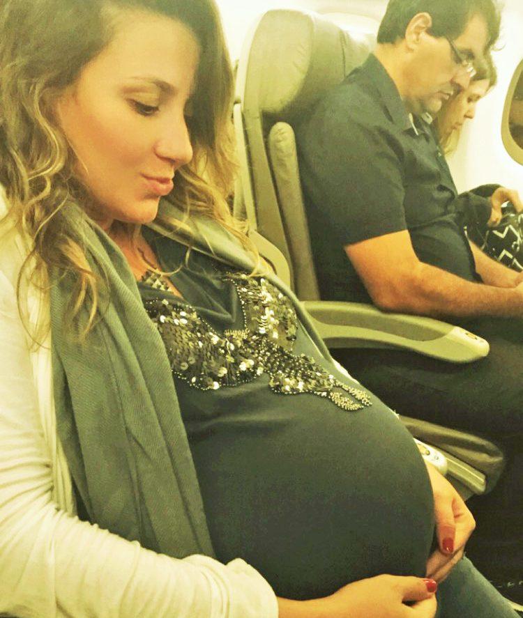 grávida pode viajar de avião - 8 meses - lala rebelo