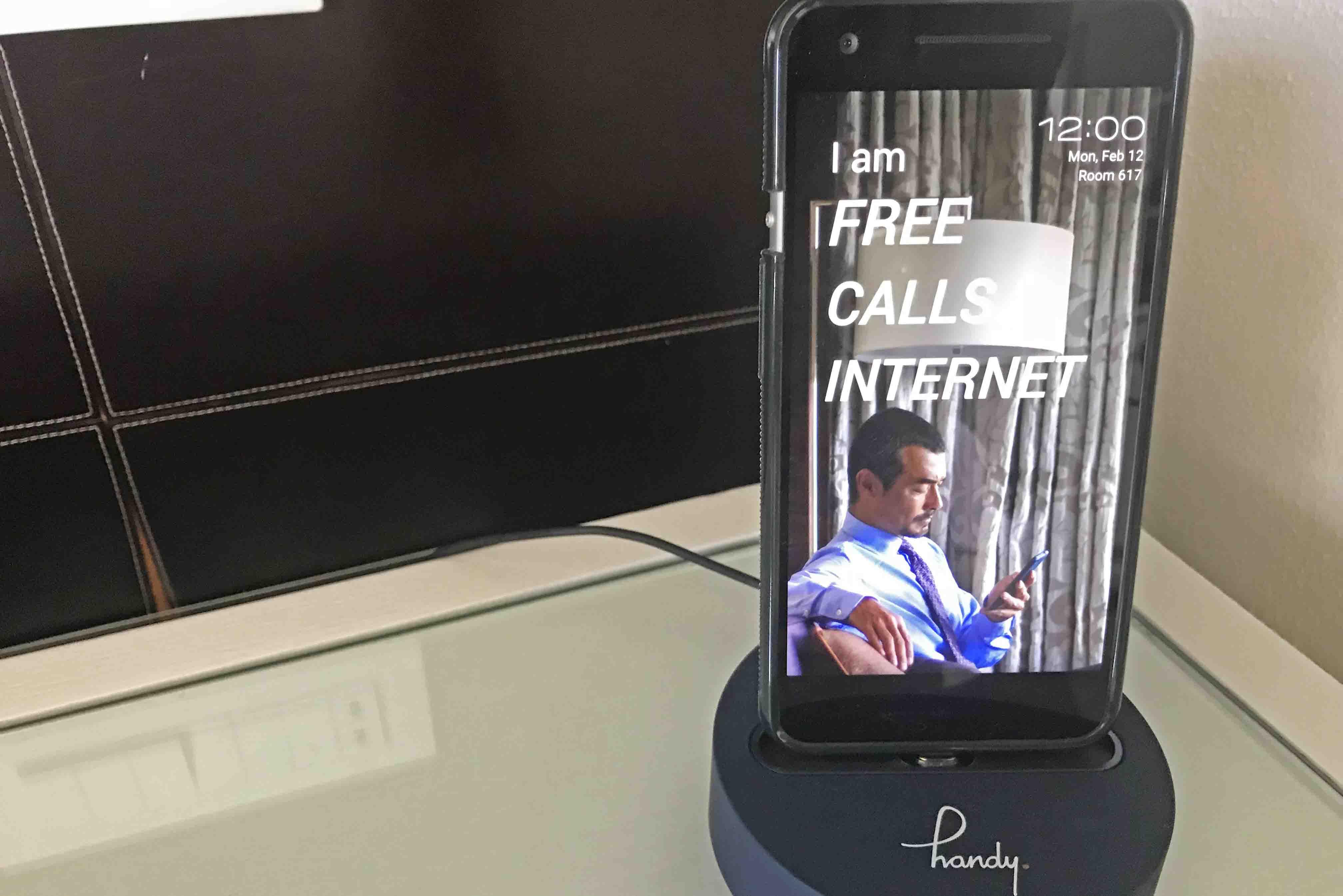 smartphone para hóspedes hotel unique handy