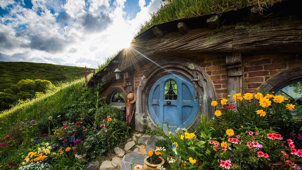 Hobbiton Movie Set na Nova Zelândia - cenário de Senhor dos Anéis e The Hobbit