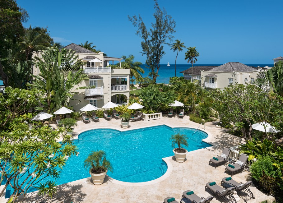 coral reef club hotel barbados pool