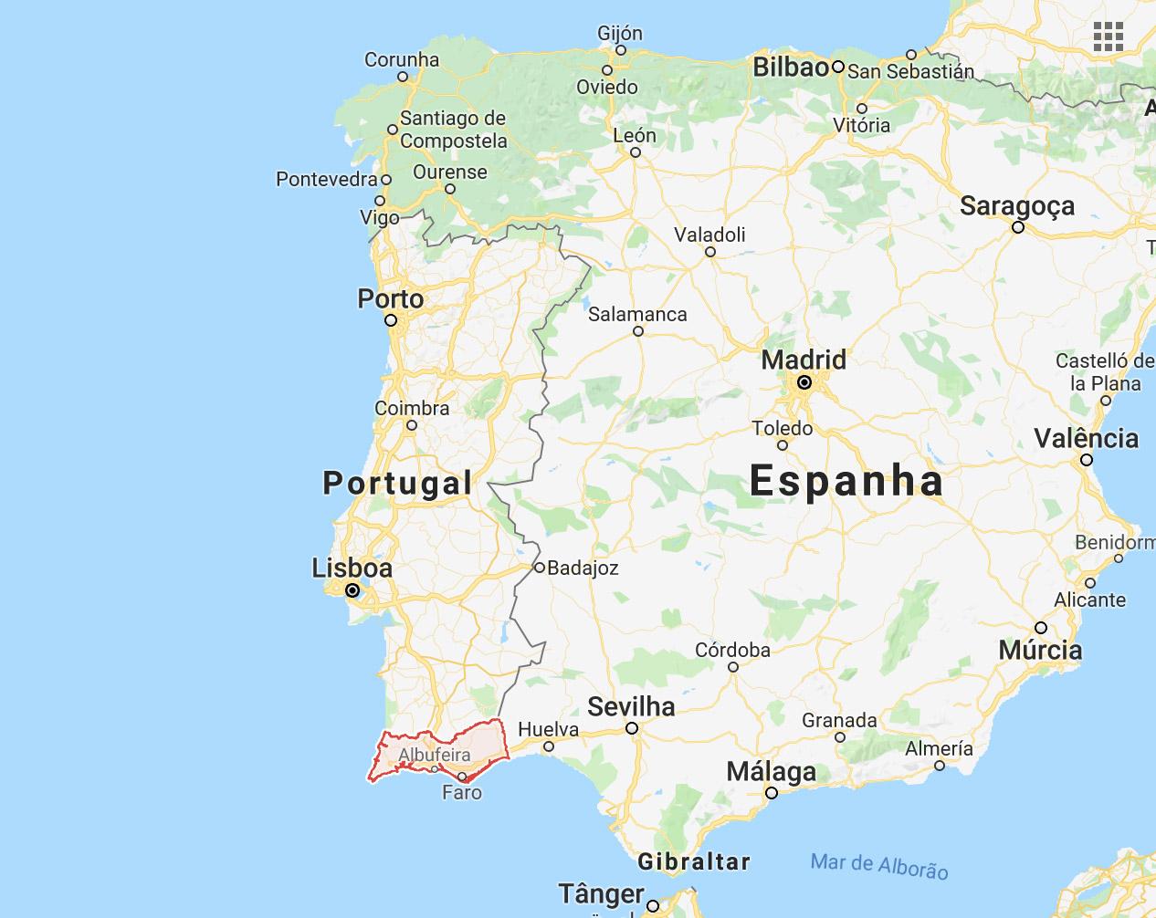 onde fica algarve portugal