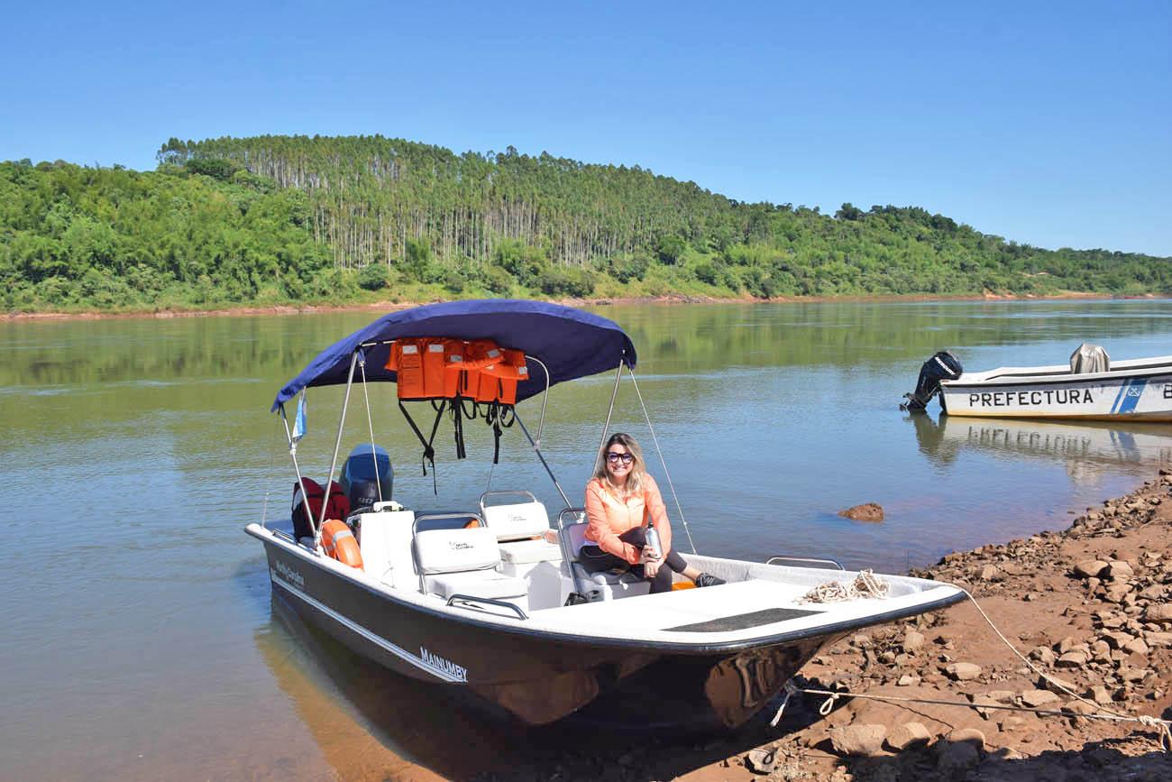 passeio de barco Rio Paraná - Awasi Iguazú