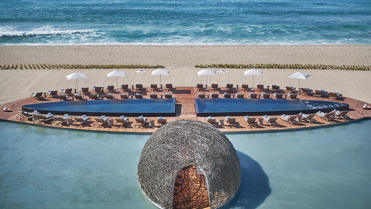 viceroy los cabos piscina e praia