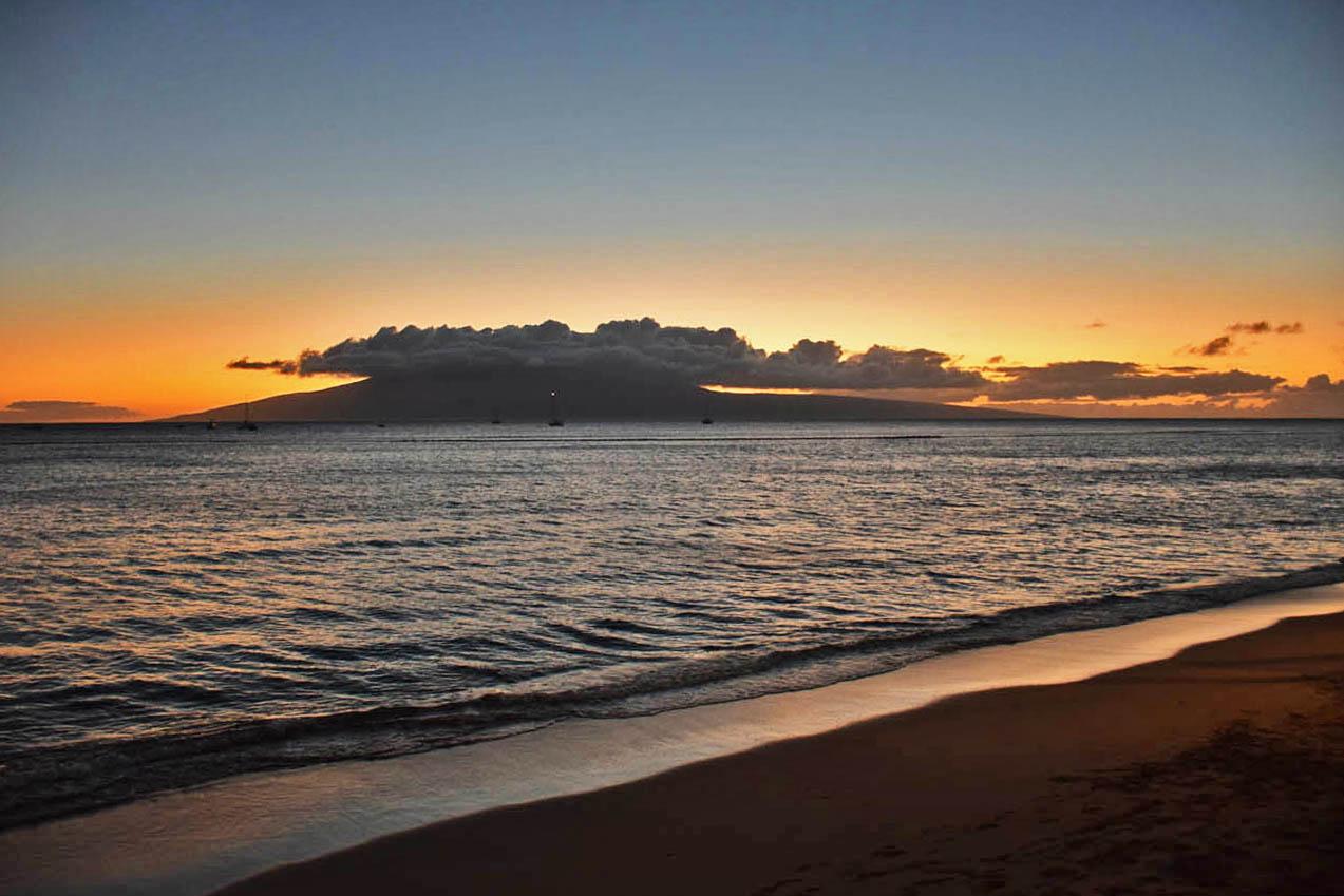 Lahaina - front street - Maui - Hawaii - sunset