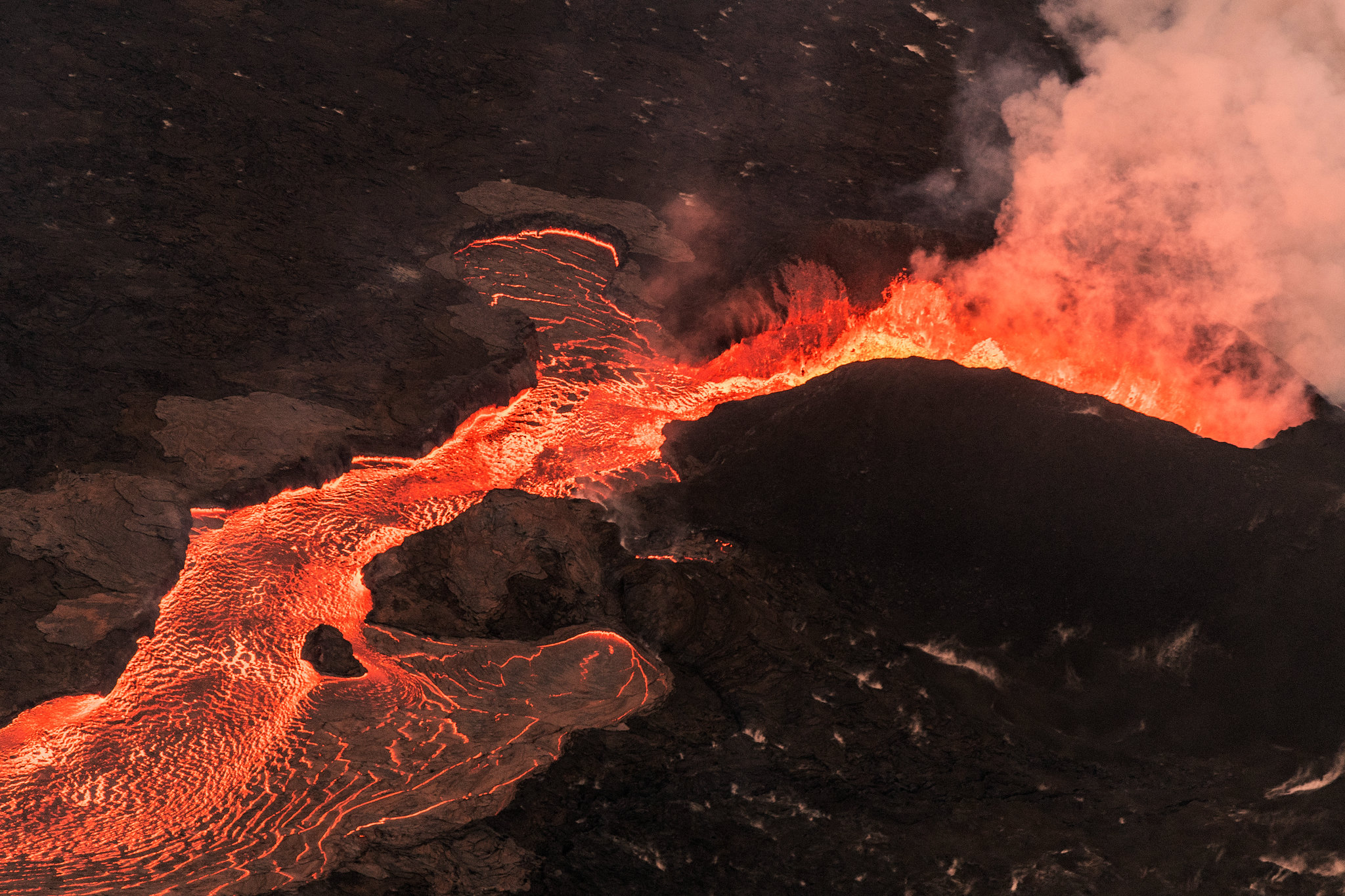 Kilauea Volcano - Big Island - Hawaii - lava from the air helicopter flight