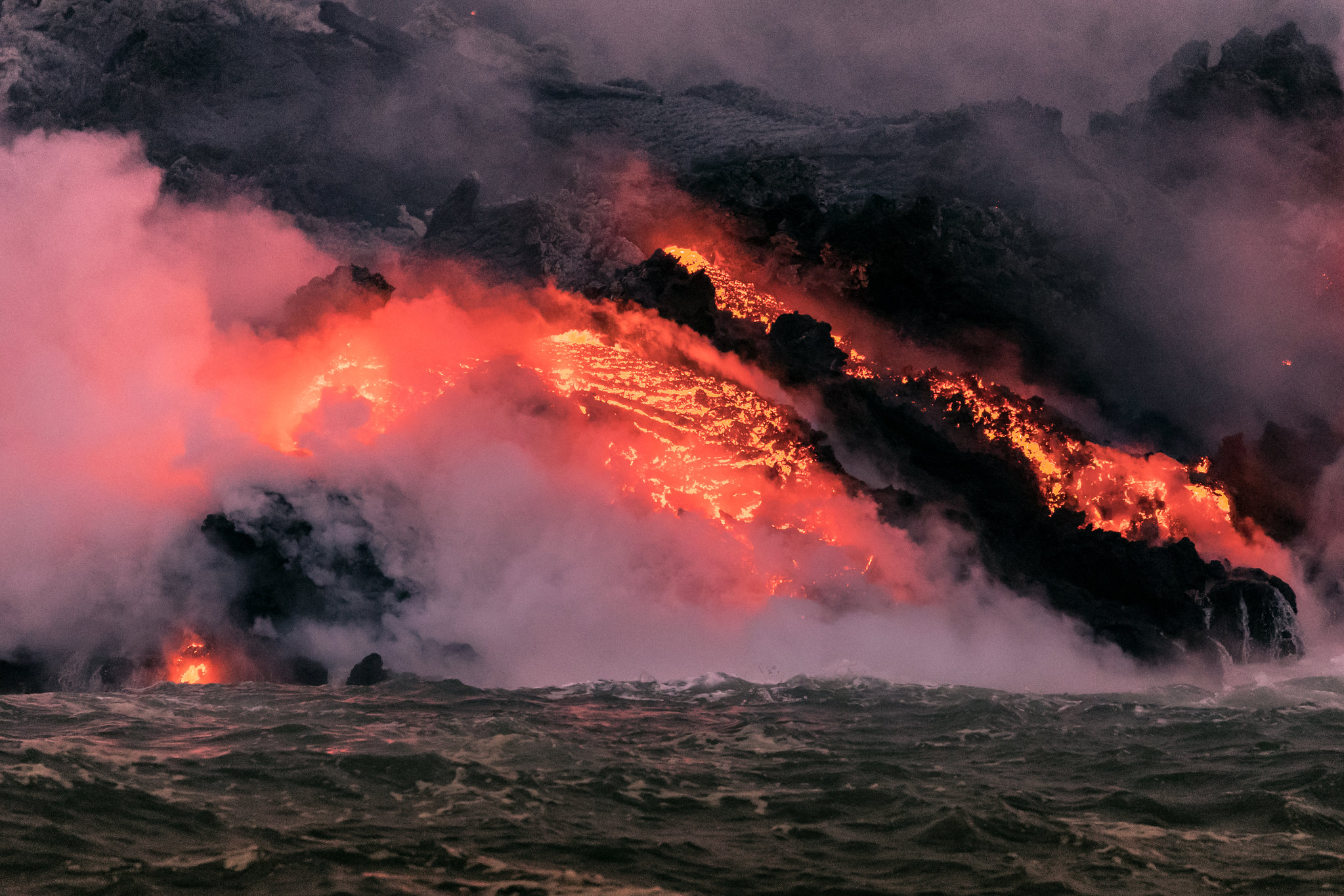 Kilauea Volcano - Big Island - Hawaii - lava from the sea