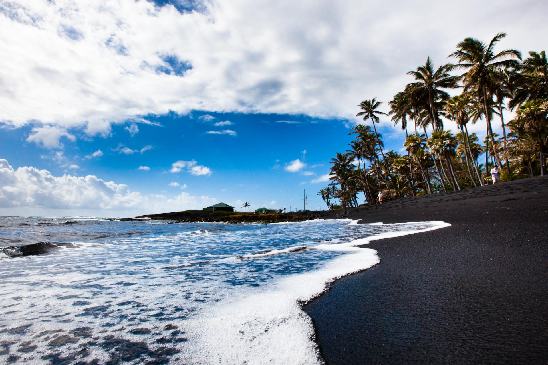 Punaluu Black Sand Beach Big Island Hawaii