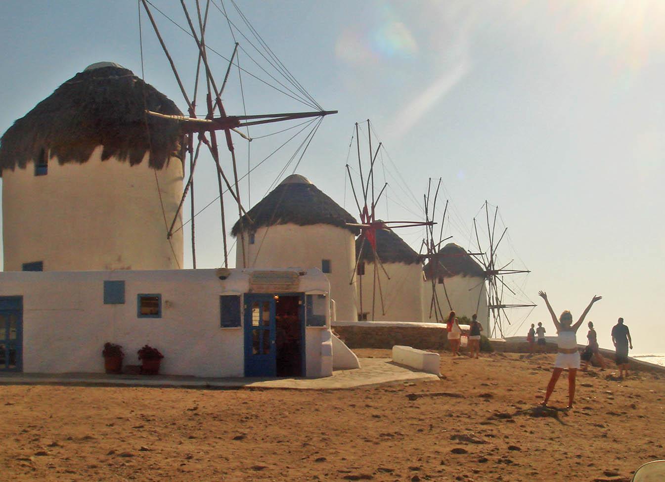 moinhos de vento mykonos grécia