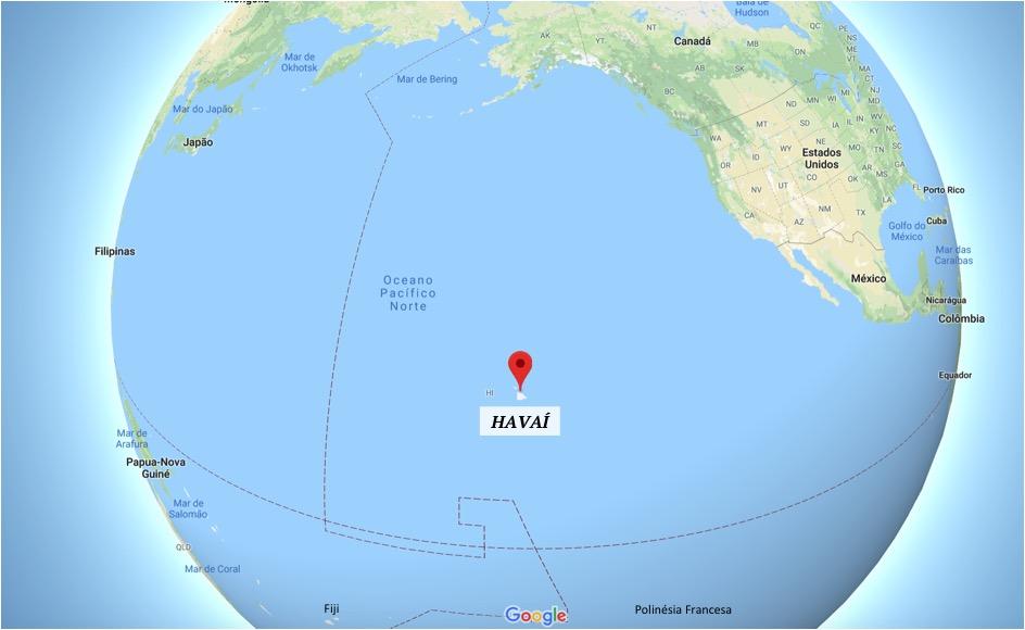 onde fica o havaí - distâncias