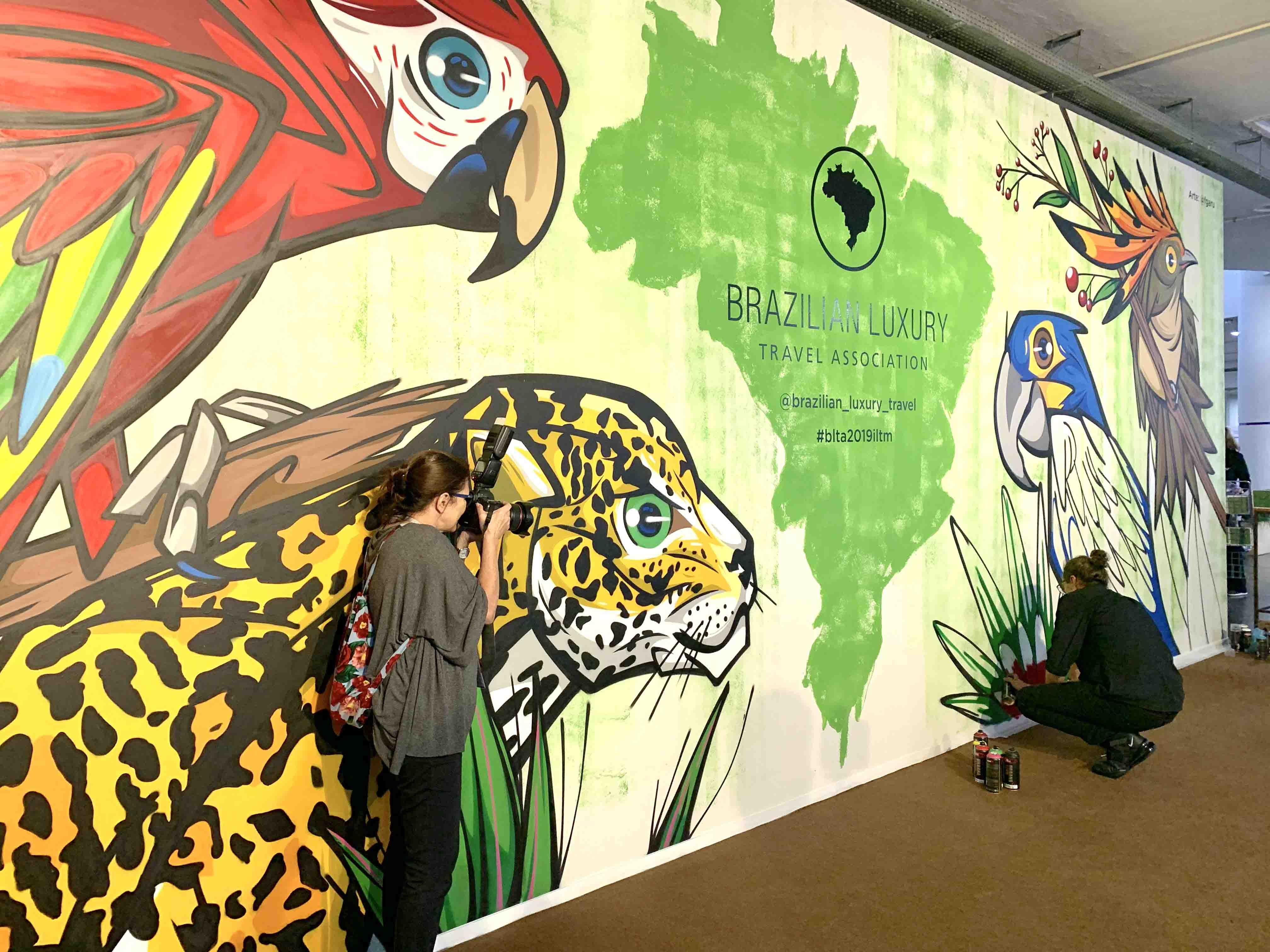 Mural BLTA na ILTM Latin America 2019