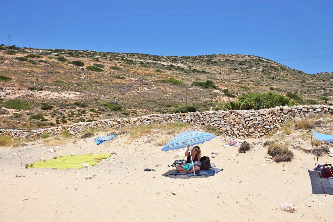 Kedros Beach - praia de nudismo em Donoussa - Grécia