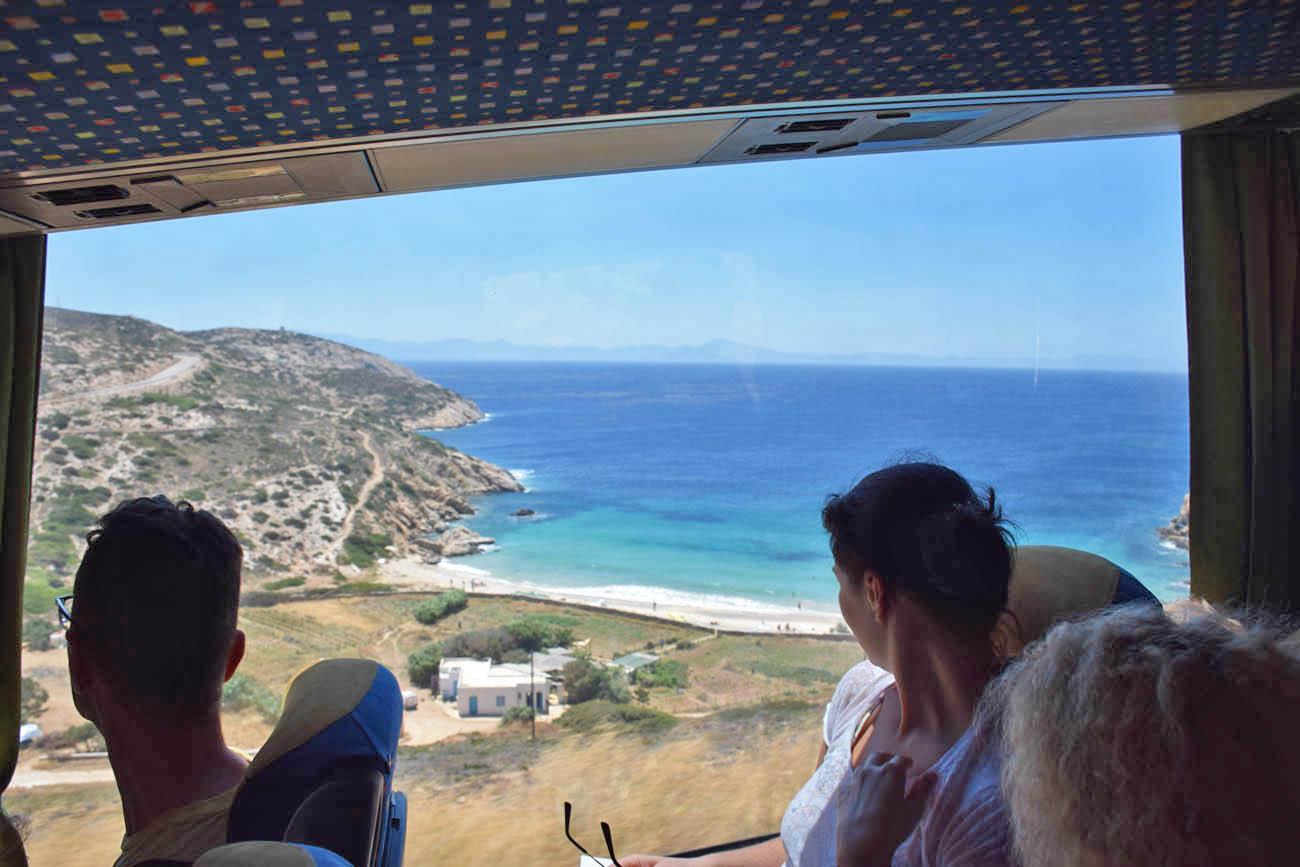 ônibus Donoussa - como se locomover na ilha