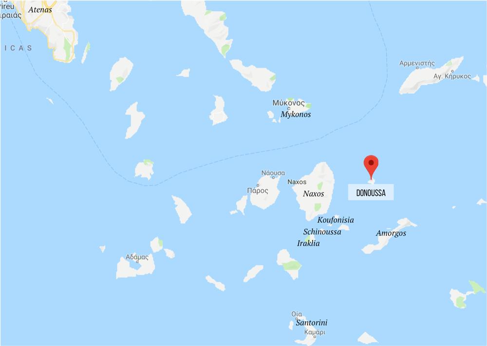 Onde fica a ilha de Donoussa - como chegar - mapa