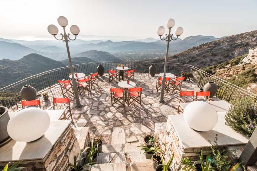 Rotonda Restaurant Naxos Island - Apeiranthos Village
