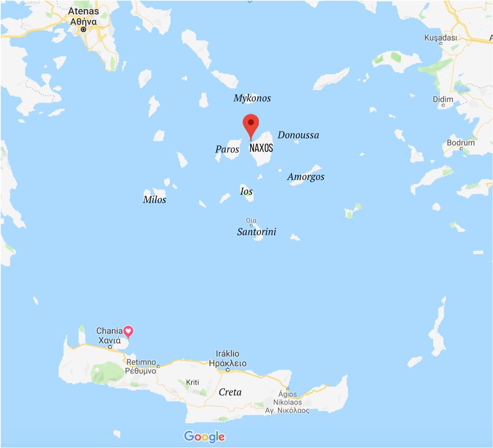 Dicas de Naxos - onde fica - localização