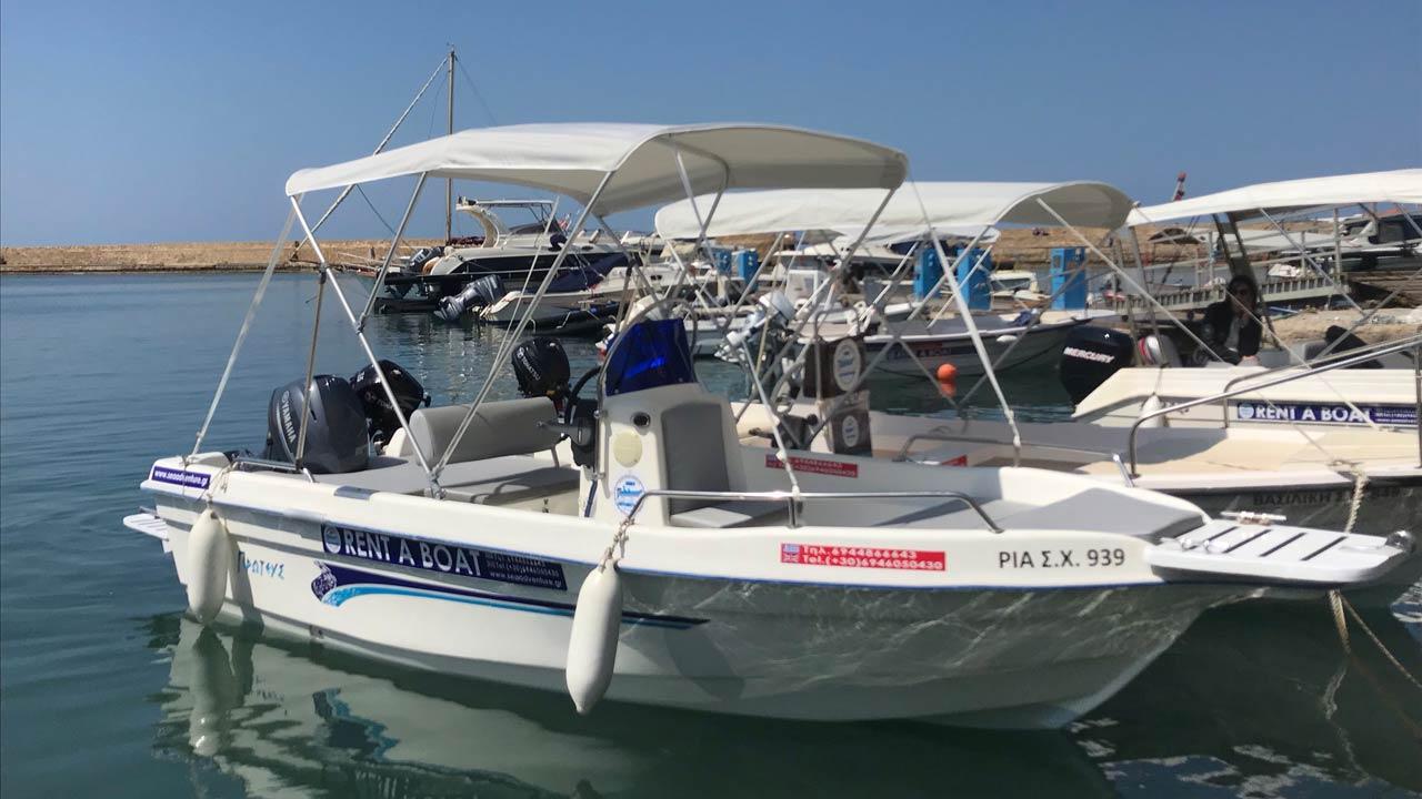 Aluguel de barco sem licença em Chania - Creta - Grecia