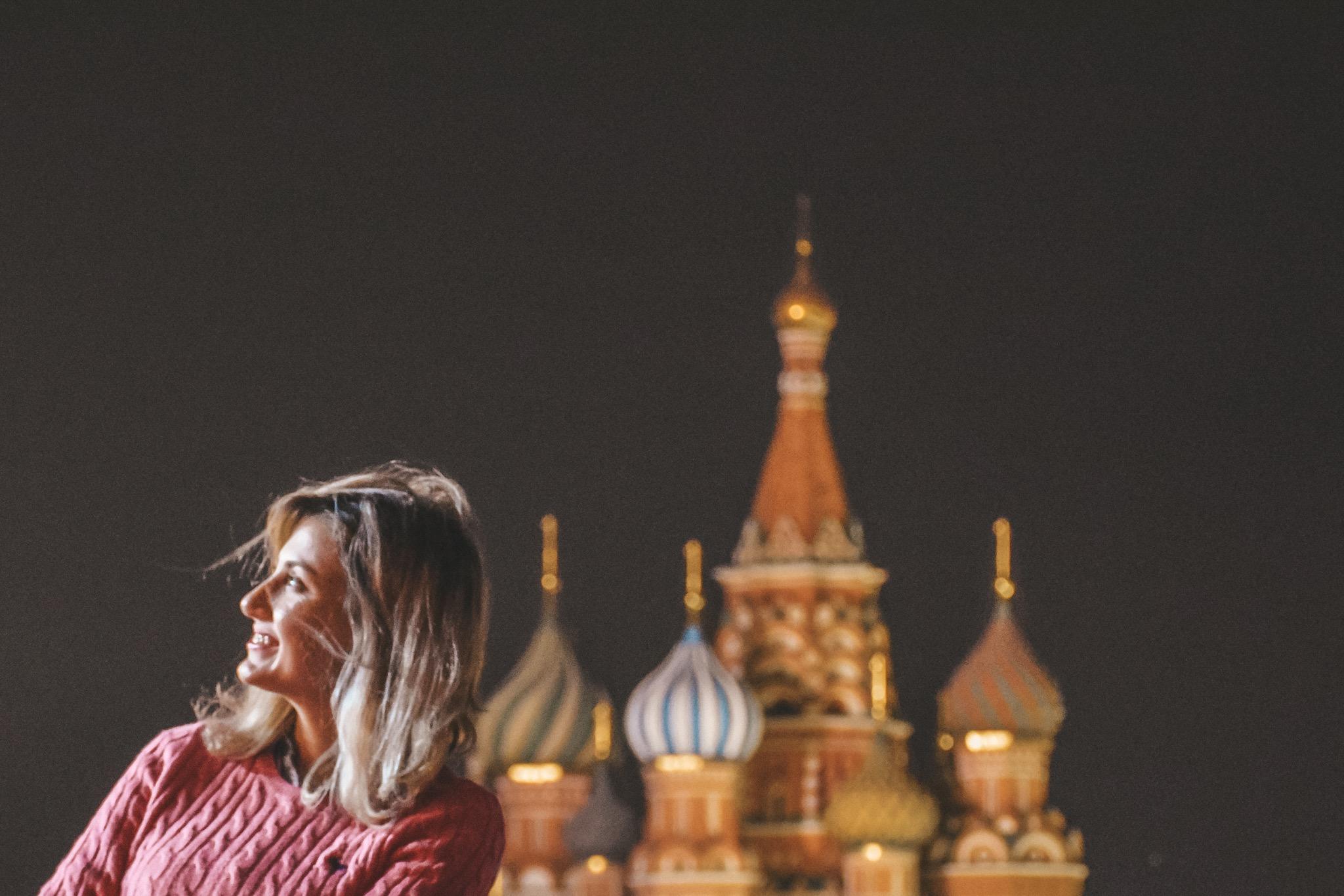O QUE FAZER EM MOSCOU - PRAÇA VERMELHA A NOITE