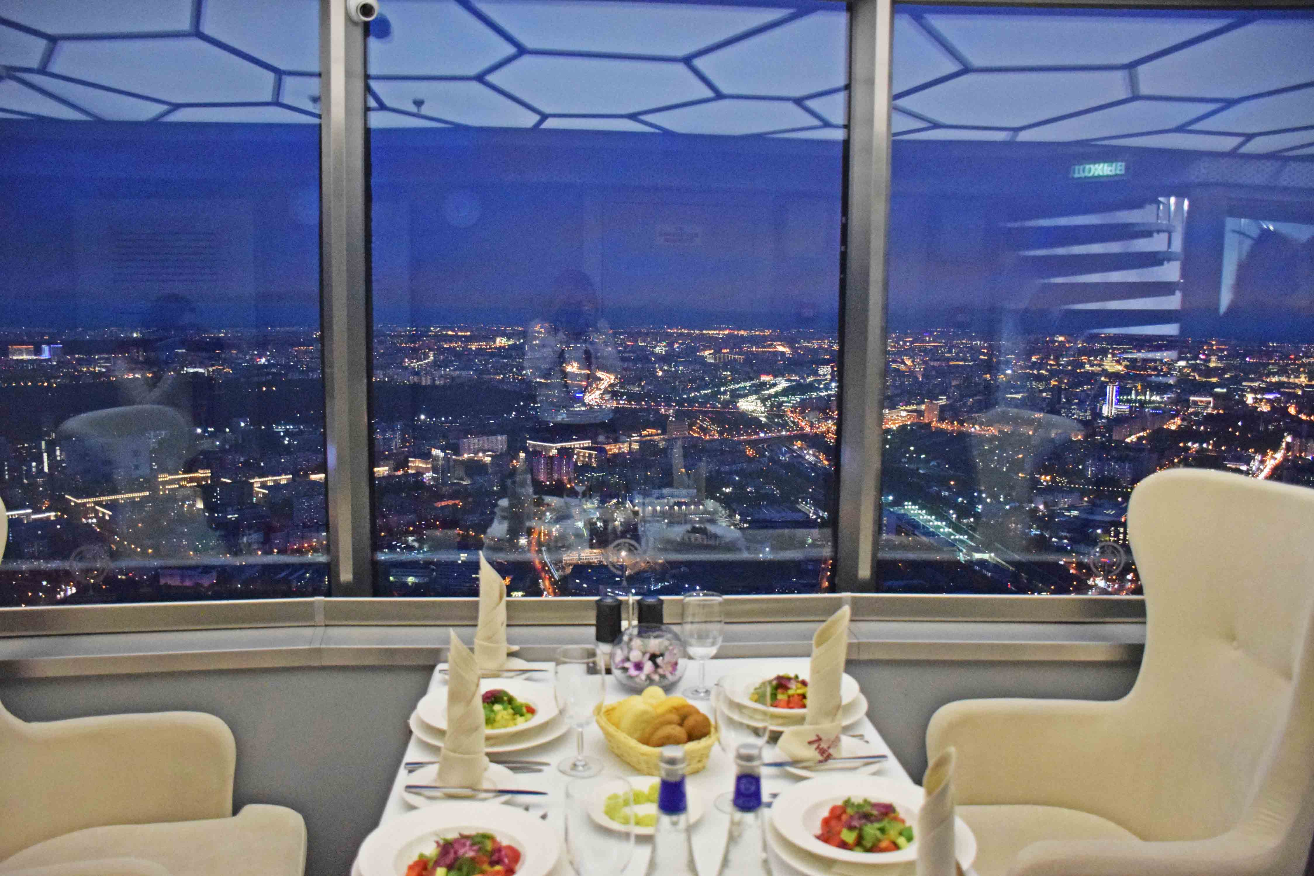 Ostankino TV Tower - 7th Heaven Restaurant Moscow