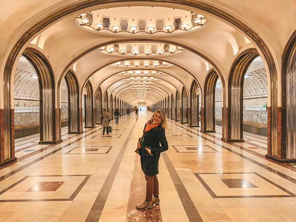 Tour pelo metro de Moscou - Estações mais bonitas - Mayakovskaya