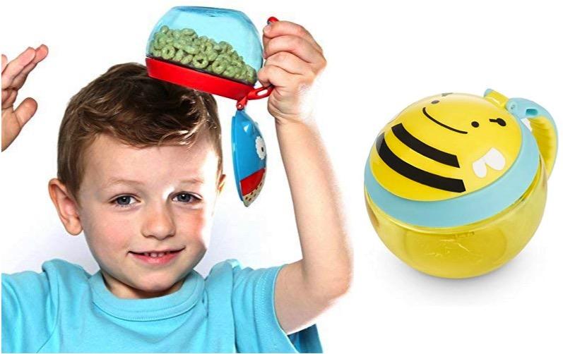 potinho de lanche skip hop - viagem com bebê - itens indispensáveis
