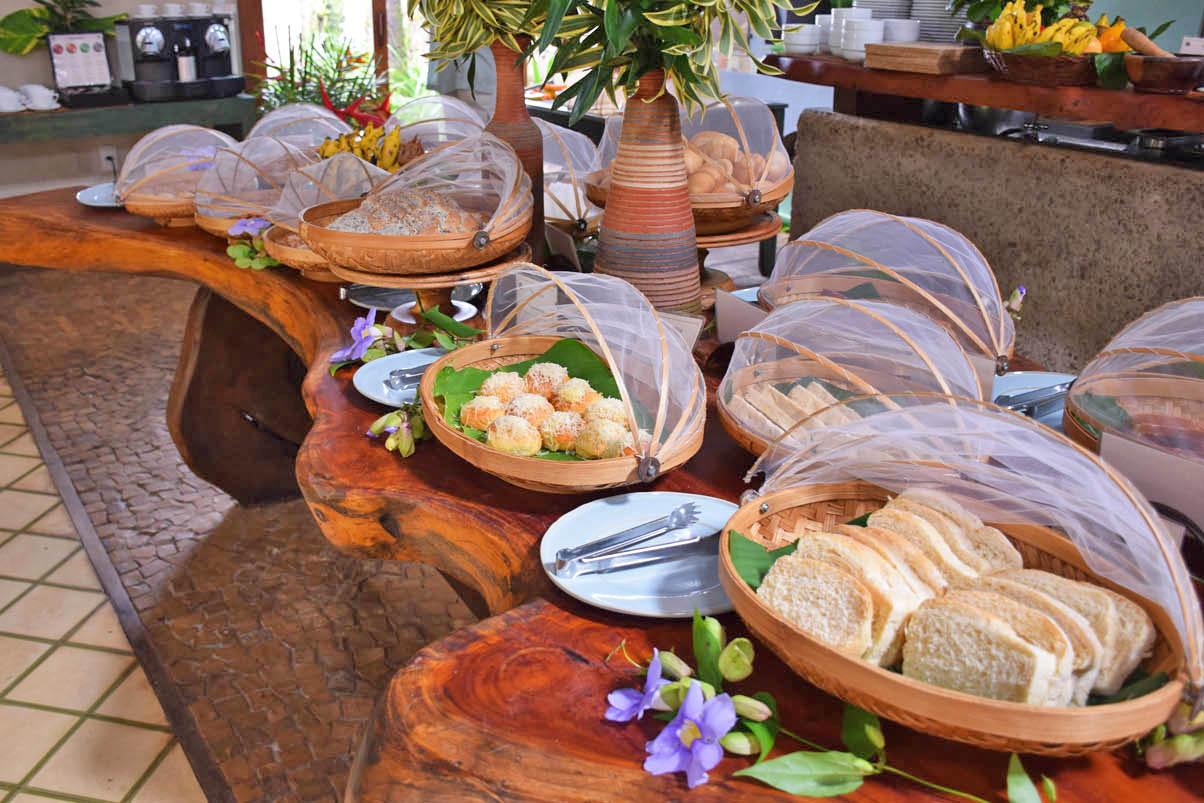 Café da manhã do Txai Itacaré Resort