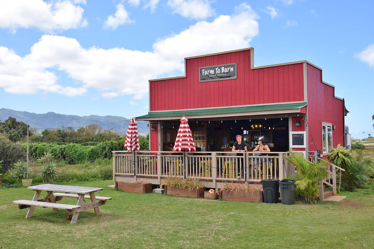 Farm to Barn Cafe Haleiwa North Shore Oahu Hawaii