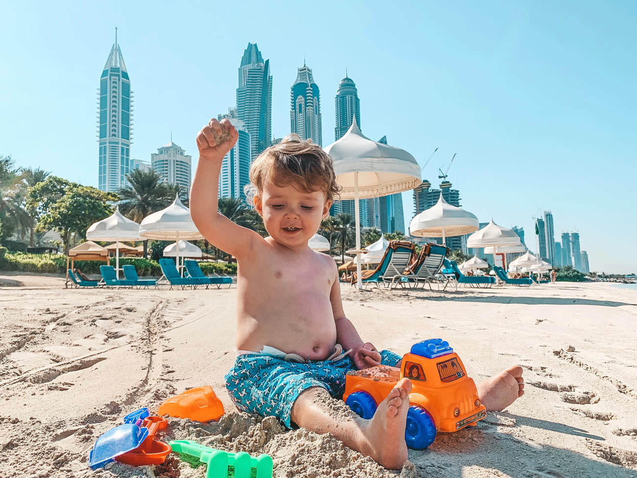 Dubai com criancas - praia one and Only Royal Mirage