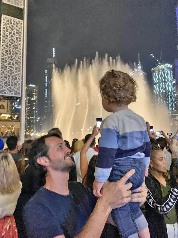 Dubai Fountain - show das fontes Dubai Mall