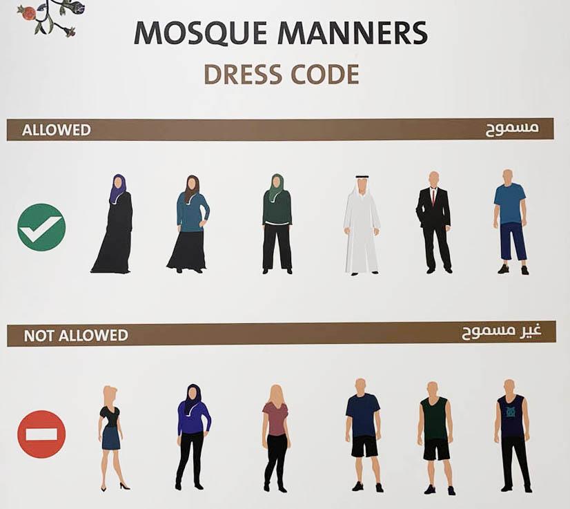 como se vestir na Mesquita Sheikh Zayed